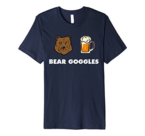 Mens Bear Goggles Funny Chicago Fan Gift Crazy Drinking Shirt 2XL Navy