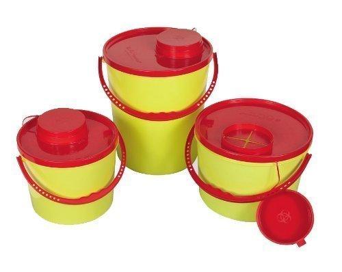 AMPRI Kanülenabwurfbehälter - 7 Liter - durchstichsicher - 1 Stück