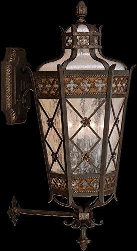 Fine Art Lamps 403481, Chateau Outdoor Wall Sconce Lighting, 240 Total Watts, Patina - Chateau Rustic Sconce