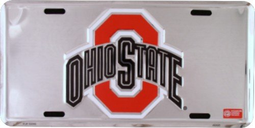 Ohio Stock - Tag City Ohio State Buckeyes Super Stock Metal License Plate 6 x 12