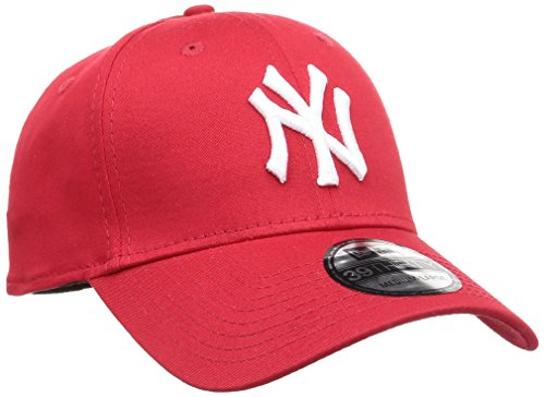 New Era Herren Baseball Cap Mütze M/LB Basic NY Yankees 39Thirty Stretch Back, Scarlet/White, S/M, 10298276