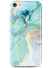 luolnh iPod Touch 7 Case,iPod Touch 6 Case,iPod Touch 5 Case,Gold Glitter Sparkle Marble Design Shockproof Soft Silicone TPU Bumper Cover Skin Case for iPod Touch 5th/ 6th/ 7th Gen(Abstract Mint)