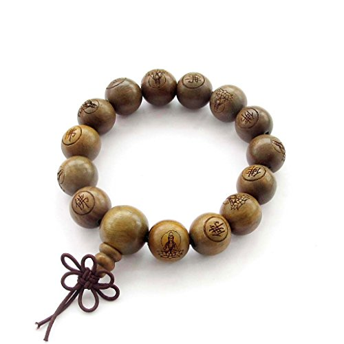 Tibetan buddhist green sandalwood beads prayer mala buy for Zen culture jewelry reviews