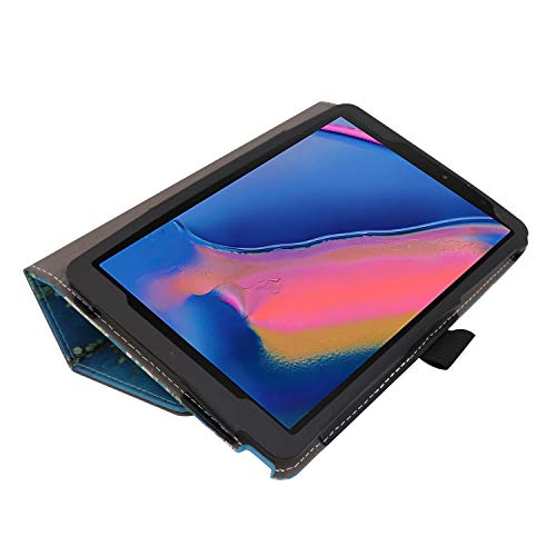 Ratesell Galaxy Tab A 8 (2019) Case, Multi-Angle Stand Slim-Book PU Leather Case Cover with Stylus Slot Holder Compatible with Samsung Galaxy Tab A 8 (2019) SM-P200 ; SM-P205 Plum