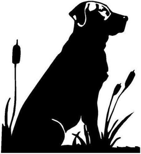 Labrador Cattails Vinyl Decal Car Window Wall Laptop Sticker, Die Cut Vinyl Decal for Windows, Cars, Trucks, Tool Boxes, laptops, MacBook - virtually Any Hard, Smooth Surface