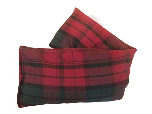 Unscented Microwave wheat bag - UK Made Heat Pack - NON Scent in Plum Tartan Cotton Gift Box by Amazing Health