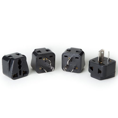 Price comparison product image OREI 2 in 1 USA to Australia / China Adapter Plug (Type I) - 4 Pack,  Black