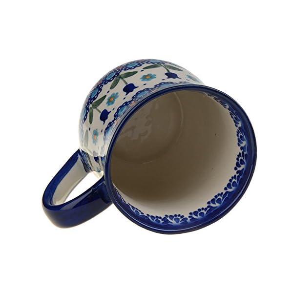 BCV Classic Boleslawiec, Polish Pottery Hand Painted Ceramic Mug 300ml, 053-U-006