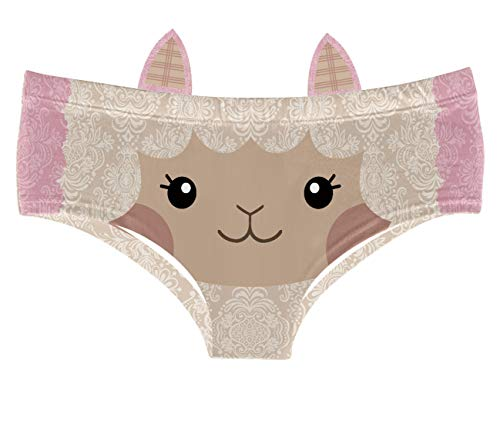 Women's Flirty Sexy Funny Naughty 3D Printed Animal Underwears Briefs Gifts With Cute Ears (EDNK022-M)