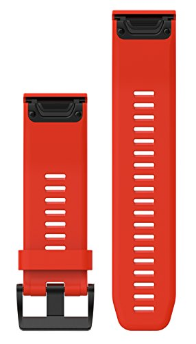 Garmin 010-12517-02 Fenix 5X Quick fit 26 Watch Band - Flame Red Silicone
