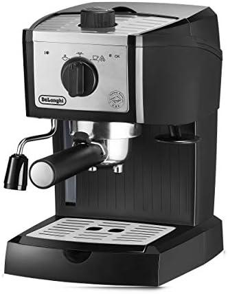 DeLonghi EC157 Machine à expresso manuelle, 1100 W, 1,1 l, acier inoxydable