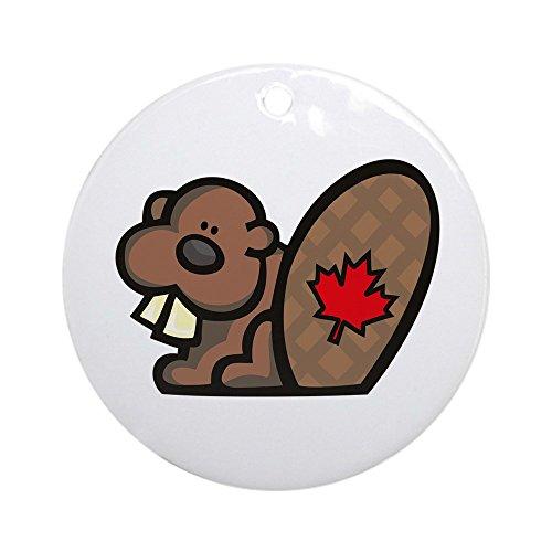 CafePress Canada Beaver Ornament (Round) Round Holiday Christmas Ornament