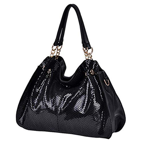 Women Casual Leather H bags Shoulder Bags Solid Serpentine Design Lady Top H le H bags Snake Skin Tote Bags -