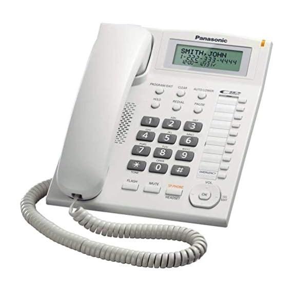 Panasonic Single Line KX-TS880MX Corded Phone (White)