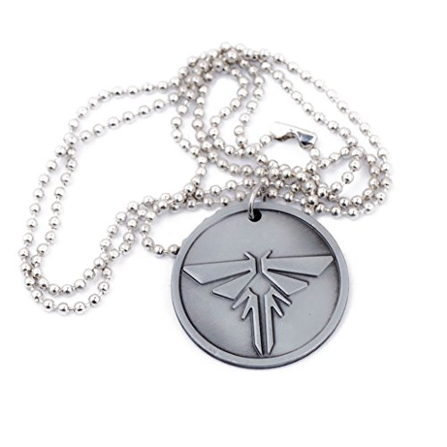 Game Last Us Silver Pendant Necklace Cosplay Accessory]()