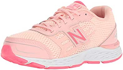 New Balance Girls' 680v5 Running Shoe, Himalayanpink, 10.5 XW US Little Kid