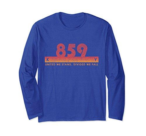 Unisex Kentucky Area Code 859 Shirt Vintage Retro State Motto Gift XL: Royal Blue - Kentucky State Motto