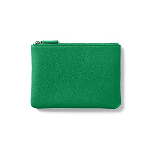 Leather Kelly Purse Handbag (Small Pouch - Full Grain Leather - Kelly Green (green))