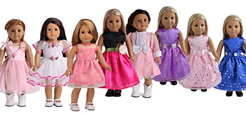 sweet dolly 7 Dresses Doll Clothes Fits 18 Inch Doll America