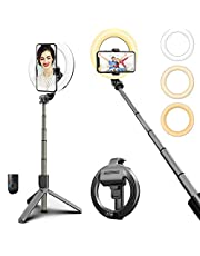 Ring Light with Stand, Remote Controller & Phone Holder, didaINT All in One Selfie Stick Tripod for Live Stream, Makeup, TikTok/YouTube Video, Photography Compatible with iPhone/Android Cell Phone