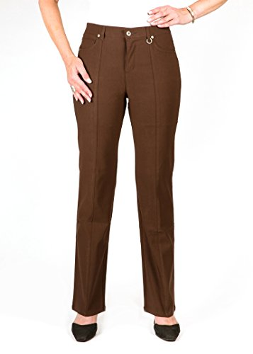 Simon Chang 5 Pocket Straight Let Microtwill Pant Style# 3-5302 (12, Brown) by Simon Chang