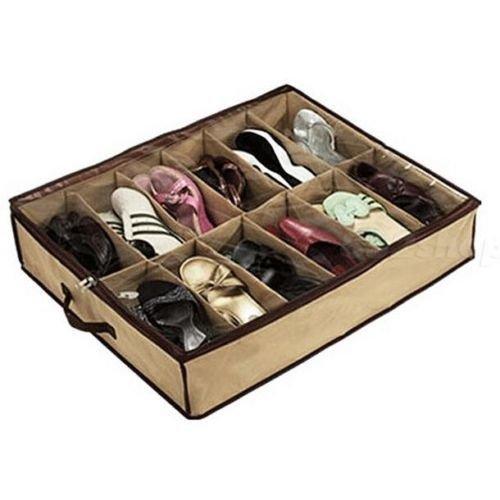 EFG 12 Pocket Underbed Shoe Storage Organiser