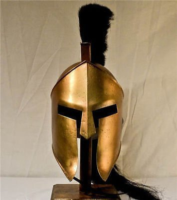 NAUTICALMART King Spartan 300 Movie Helmet with Black Plume ()