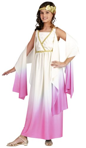 Fun World Kids Pink Greek Goddess Dress Girls Halloween Cost