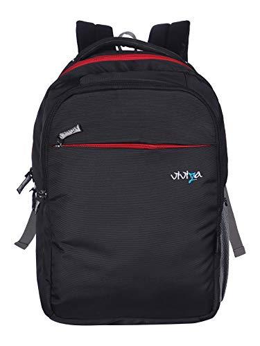Viviza Backpacks for Men Women College Bags Office Laptop Bagpacks  Trendy Light Weight Backpack Water Resistance  25 litres(Black)