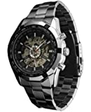 Addic Luxury Silver Black Dial Automatic Mechanical Watch for Men's & Boys (Without Battery for Life).