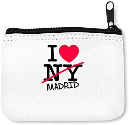 I Love Madrid Spain Monedero de la Cremallera de la Moneda: Amazon ...