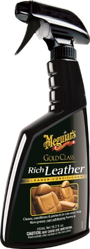 UPC 070382161095, Meguiar's G10916 Gold Class Rich Leather Cleaner & Conditioner - 15.2 oz.
