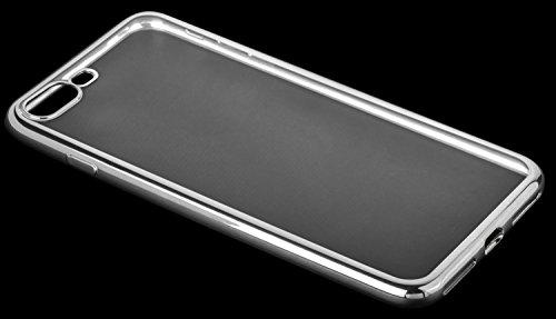 yayago TPU Schutzhülle für Apple iPhone 7 Plus / 8 Plus Hülle Chrome Look Transparent Silber