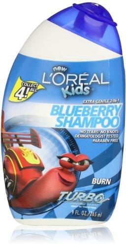 L'Oréal Kids Extra Doux 2-en-1 Graver Blueberry Shampooing, 9,0 Fluid Ounce