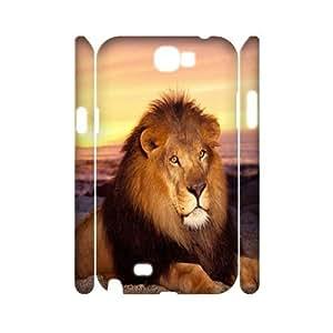 ZLGU(RM) Samsung Galaxy Note 2 N7100 3D Case with Lion Custom Case, DIY phone case