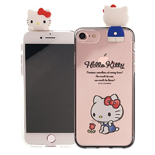 iPhone SE/iPhone 5S / iPhone 5 Case Hello Kitty Cute Figure Doll Soft Jelly Cover for [ iPhone SE / 5S / 5 ] Case - Figure Hello Kitty Sitting (Hello Cases Iphone Kitty 5)