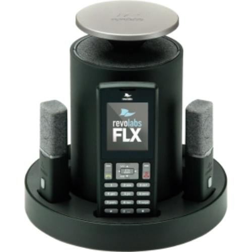 Revolabs 10-FLX2-101-POTS Model FLX 2 Cisco Compatible Analog Wireless Conference Phone for POTS Systems with 1 Omnidirectional Tabletop and 1 Wearable Microphone, Pack of 1 ()