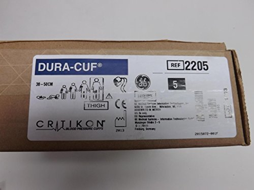 GE Healthcare 2205 Dura-Cuf Blood Pressure Cuf, 2-Tube Submin Connector, 38-50 cm, Thigh, Brown by GE (Image #3)
