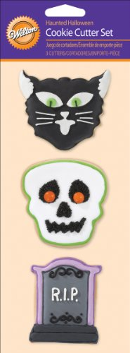 Wilton Cookie Cutter Set, Haunted Halloween, 3/Pack]()