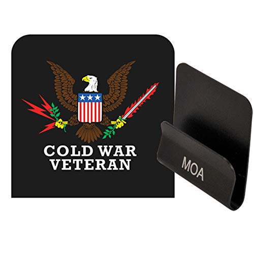 Medals of America Cold War Veteran Eagle Officially Licensed Operator Clip Black ()