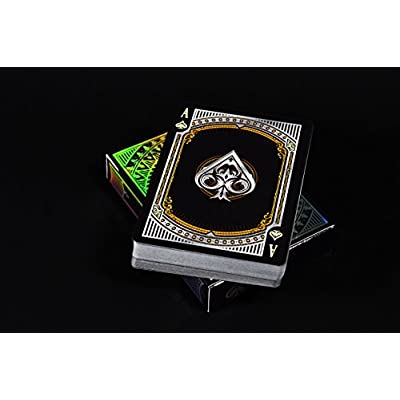 Alloy Copper Playing Cards Poker Deck Custom Design Foiled Back New: Toys & Games