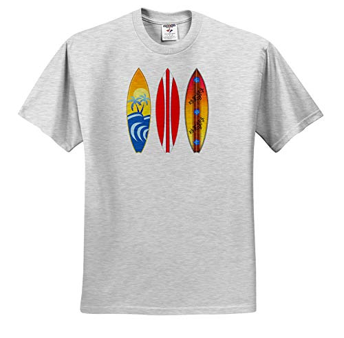 - Macdonald Creative Studios - Surfing - Three Vintage Style Surfboards for Any Surfer who Loves The Beach. - T-Shirts - Toddler Birch-Gray-T-Shirt (3T) (ts_291831_32)