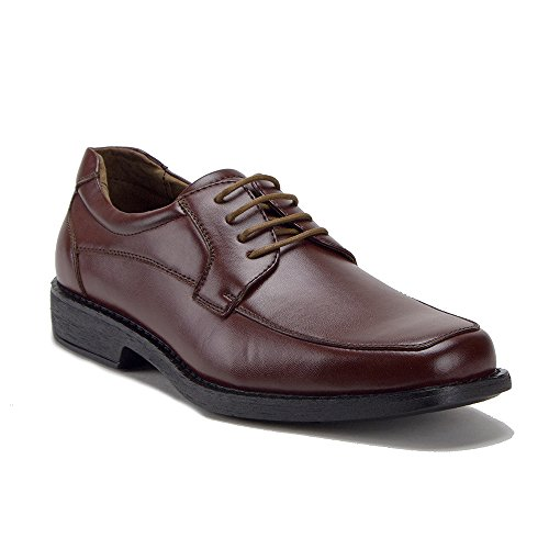 Heren 16058 Classic Vierkante Teen Veter Oxford Schoenen Bruin