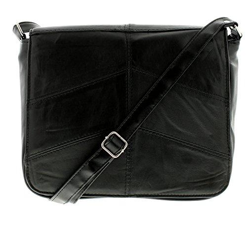 wynsors tende da donna in pelle borsa nera - Nero - NUMERI UK 1-1