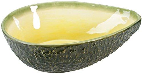 Avocado Glass - YTC Summit Avocado Big Bowl Collectible Fruit Ceramic Glass Platter Dish, Multi Color