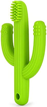 Baby Cactus Teether - Infant Training Toothbrush (Green)