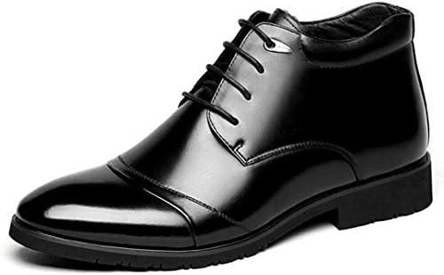 ビジネスシューズ 紳士靴 革靴 ビジネスブーツ 出張 メンズ レースアップシューズ ハイカット 綿の靴 起毛 暖かく 防寒 ウォーキングシューズ 登山靴 父の日 敬老の日 日常 アウトドア ハイキング 通勤