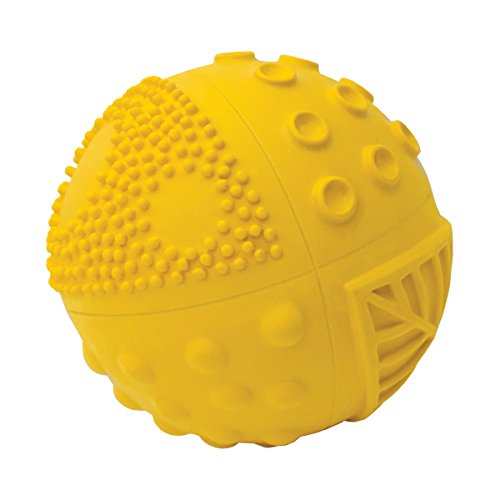 100% Pure Natural Rubber Sensory Ball Sunshine (3'') - BPA, Phthalates, PVC Free, Certified Non-Toxic by CaaOcho