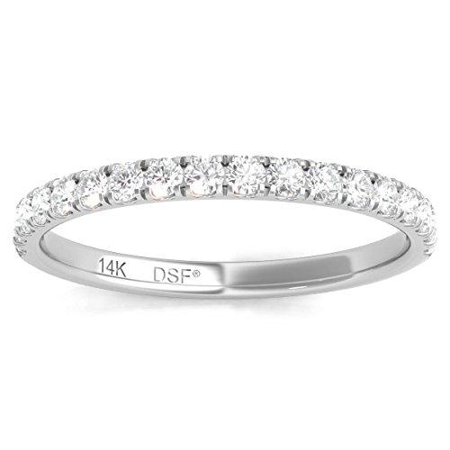 - Diamond Studs Forever 14K White Gold Diamond Wedding Band (1/3 Ct tw, IGI USA Certified GH/I1)