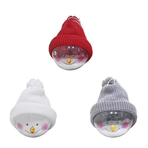 l Ornaments 2017 New Arrivals Pendant Xmas Ball With Snowman Figure for Tree House Decorators (White+Grey+Red) (Copper Foil Bronze Mini Pendant)